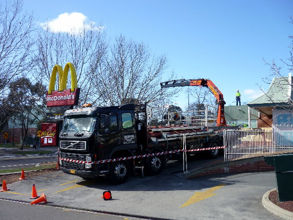 trailer trucks with crane hire sydney